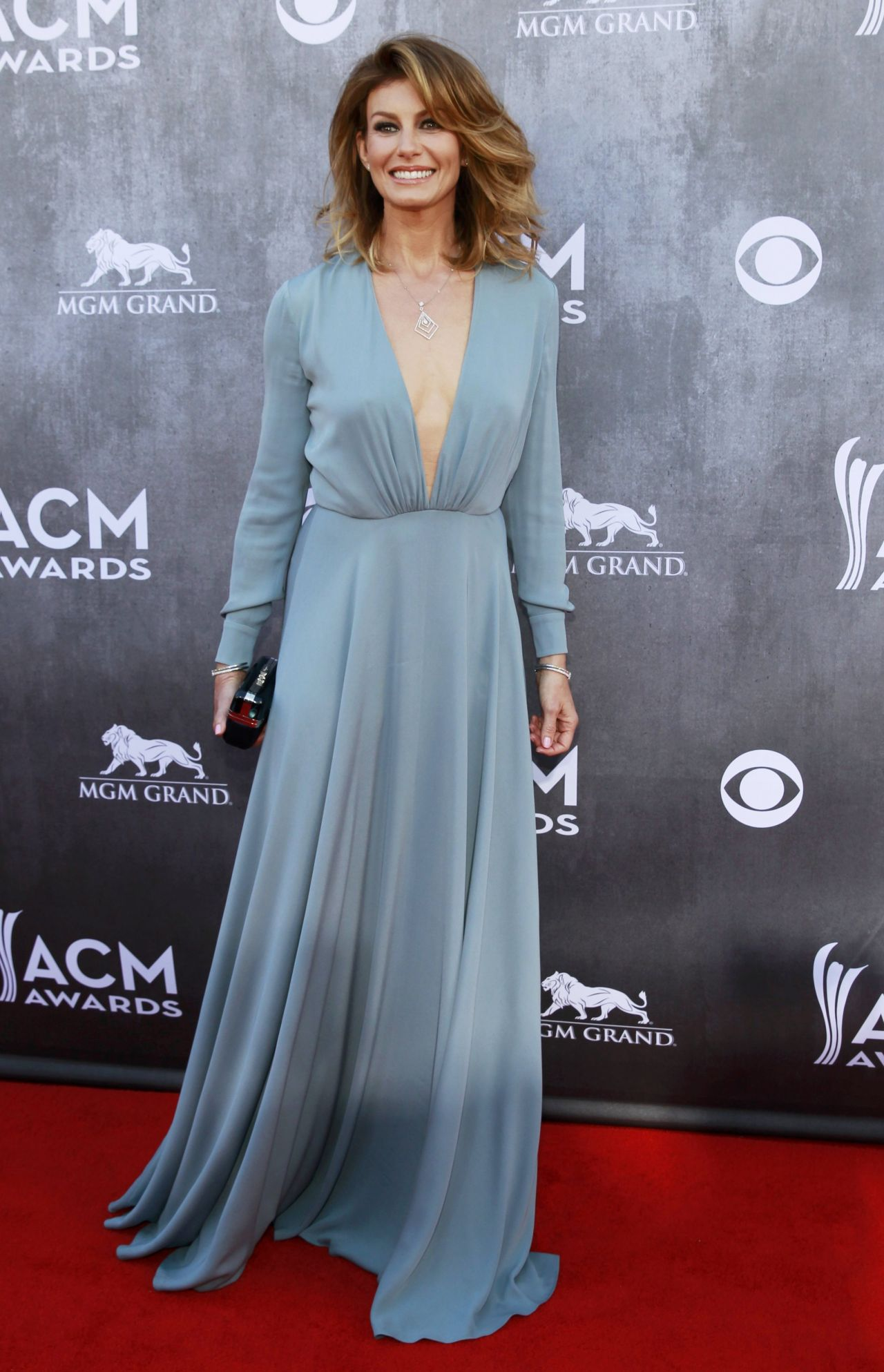 Faith Hill in Saint Laurent Gown - 2014 Academy Of Country Music ...