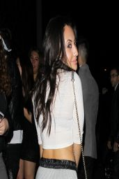 Francia Raisa Night Out Style - Outside Bootsy Bellows in Hollywood - April 2014