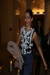 Freida Pinto in Germany - Leaves Her Hotel For an Event in Munich - April 2014