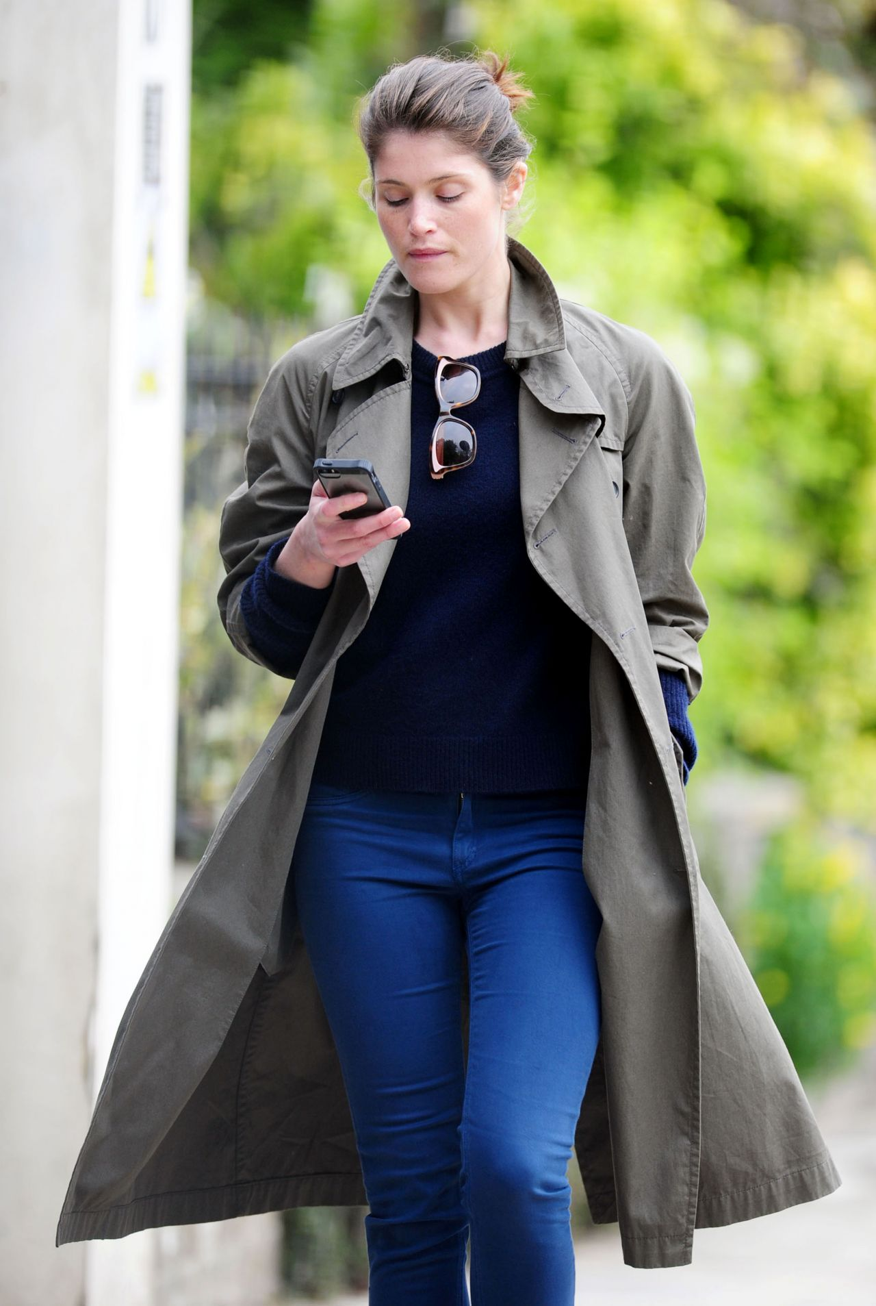 Gemma Arterton - Out in London - April 2014