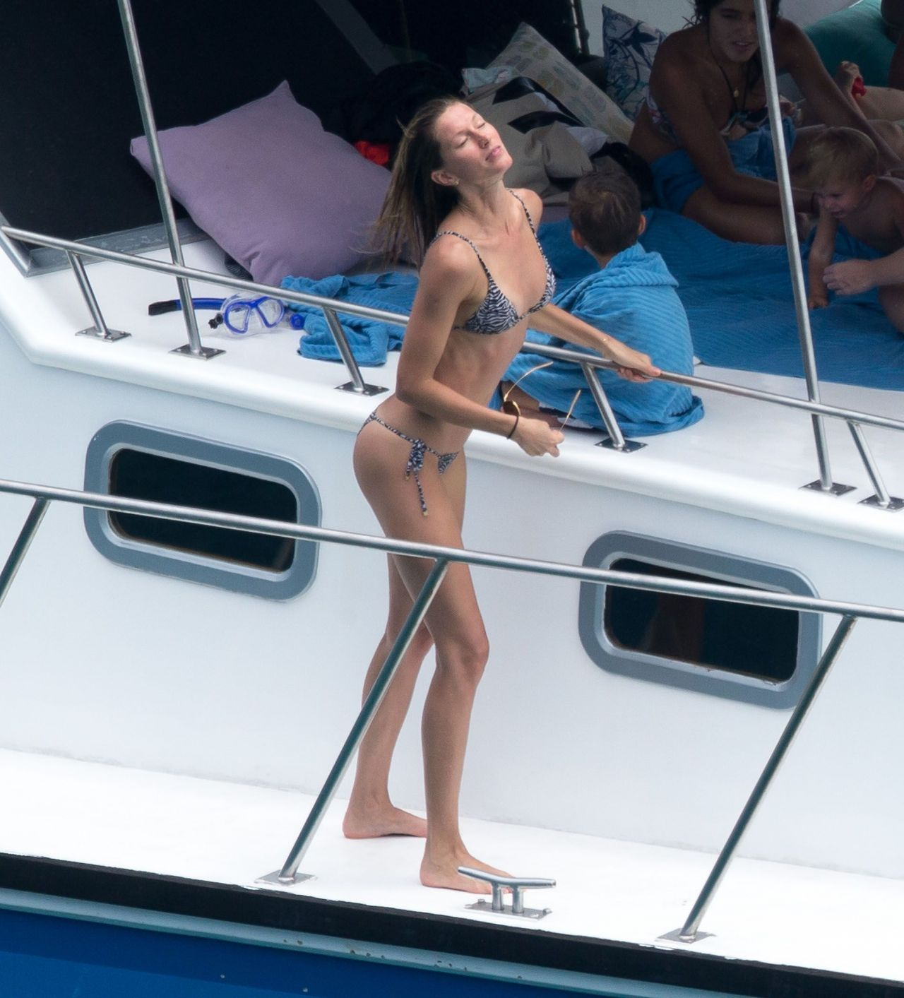 Gisele Bundchen Bikini Candids - on a Yacht in Brazil - April 2014