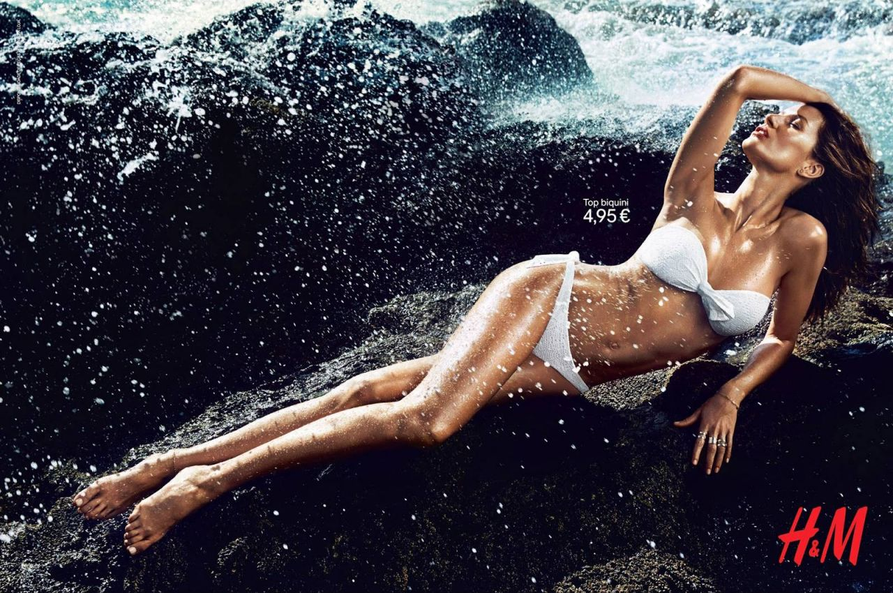Gisele Bundchen in Bikini - Photoshoot for H&M Summer 2014