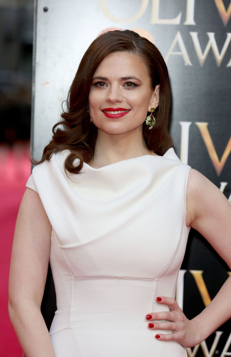 Hayley Atwell In Dsquared² Gown - 2014 Laurence Olivier Awards in London