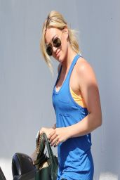 Hilary Duff at the Gym in Los Angeles - April 2014