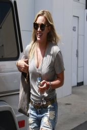 Hilary Duff in Shorts - Out in Beverly Hills - April 2014