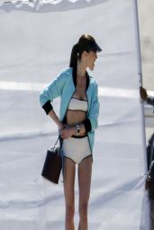 Hilary Rhoda - Photoshoot for Vogue in Malibu - March 2014