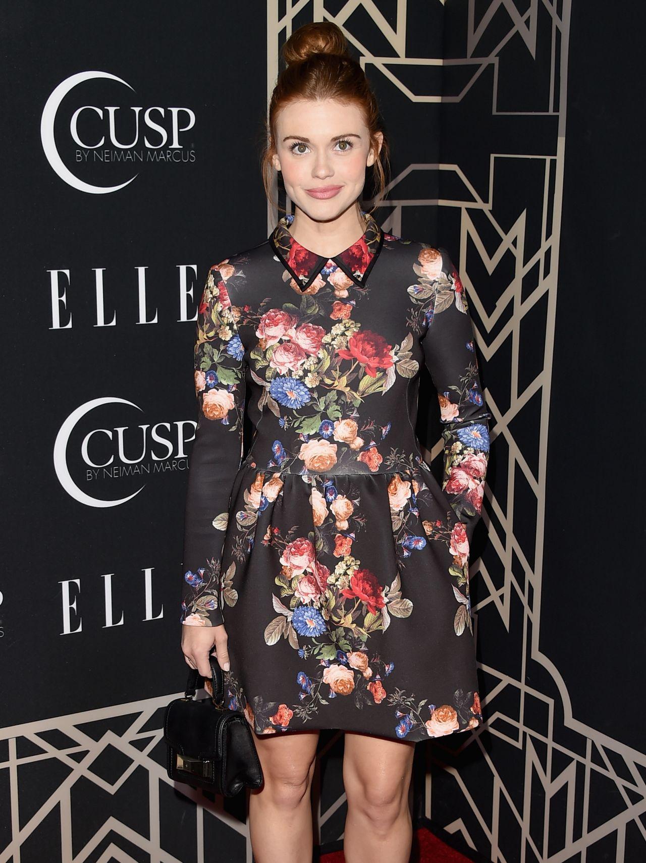 Holland Roden in Erin by Erin Fetherston Dress – 2014 ELLE Women In Music Celebration in Hollywood