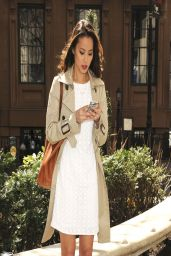 Jamie Chung in Mini Dress - Out in NYC - April 2014