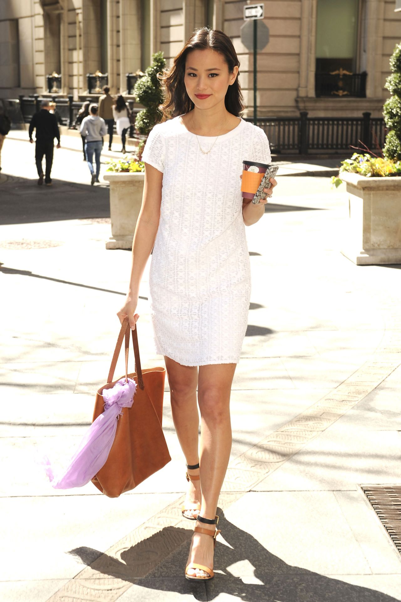 Jamie Chung In Mini Dress Out In Nyc April 2014
