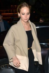 Jennifer Lawrence Night Out Style - Out Dinner in London - April 2014