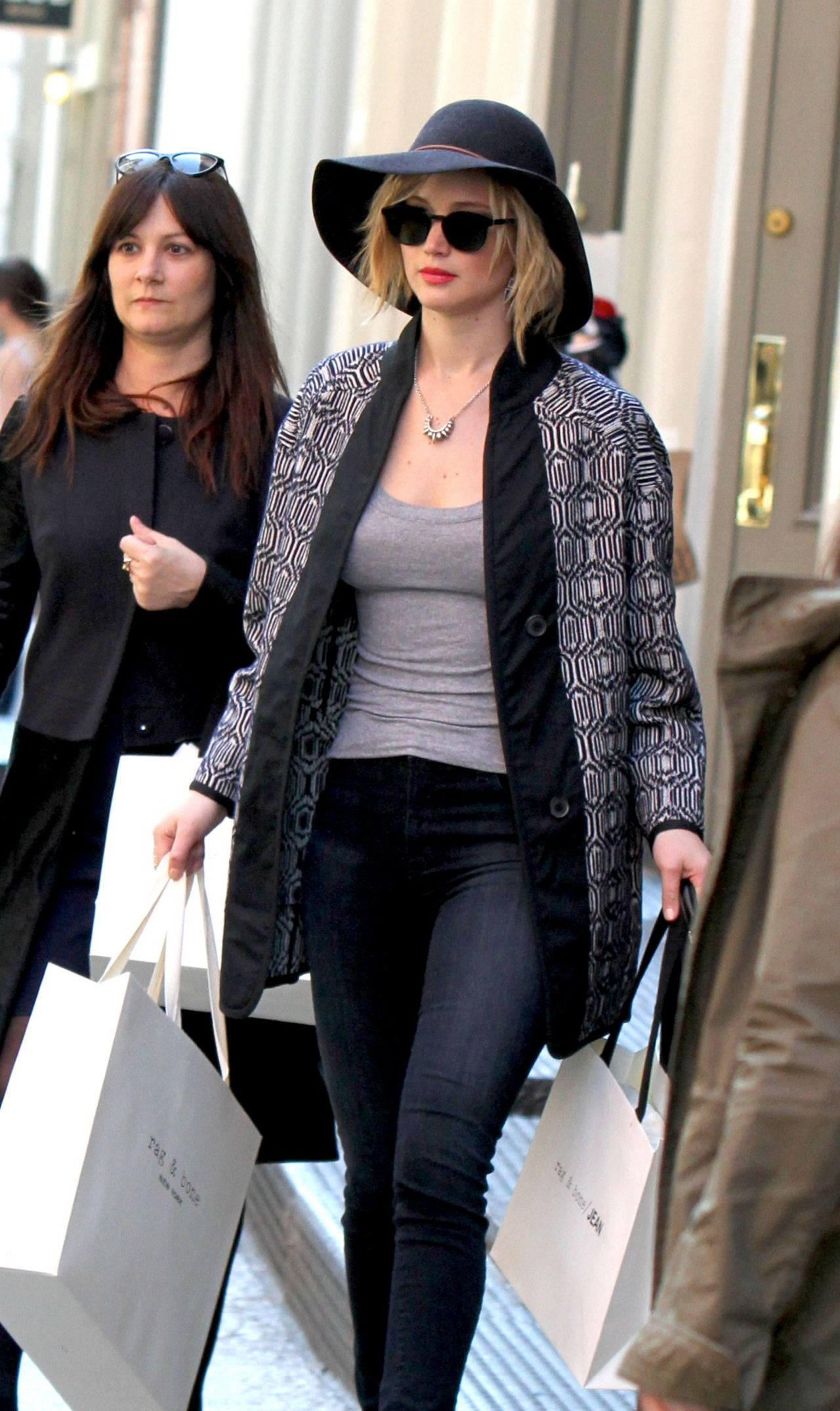 Jennifer Lawrence Out For Shopping - at Rag & Bone in SoHo - April 2014