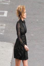 Jennifer Lopez Leggy - Heading Into