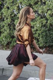 Jennifer Lopez Wearing Lanvin & Vivienne Westwood Red Label on the Set of American Idol in Los Angeles