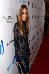 Jennifer Lopez Wearing Zuhair Murad Dress - 2014 GLAAD Media Awards in Los Angeles