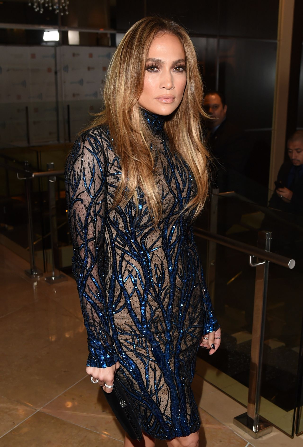 Jennifer Lopez Wearing Zuhair Murad Dress 2014 GLAAD Media Awards In Los Angeles