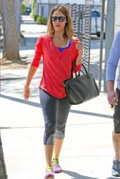 Jessica Alba in Leggings - Out in Los Angeles - April 2014