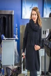 Jessica Alba in New York City - JFK Airport, April 2014