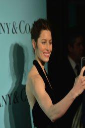Jessica Biel Wearing Oscar de la Renta Dress - Tiffany Debut of the 2014 Blue Book in New York