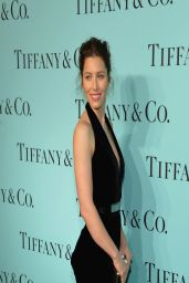 Jessica Biel Wearing Oscar de la Renta Dress - Tiffany Debut of the 2014 Blue Book in New York