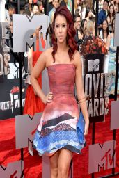 Jillian Rose Reed in Angelys Balek Mini Dress - 2014 MTV Movie Awards
