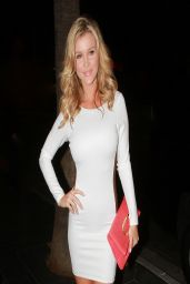 Joanna Krupa &Carmen Electra Night Out Style - Arriving to RivaBella in West Hollywood - April 2014