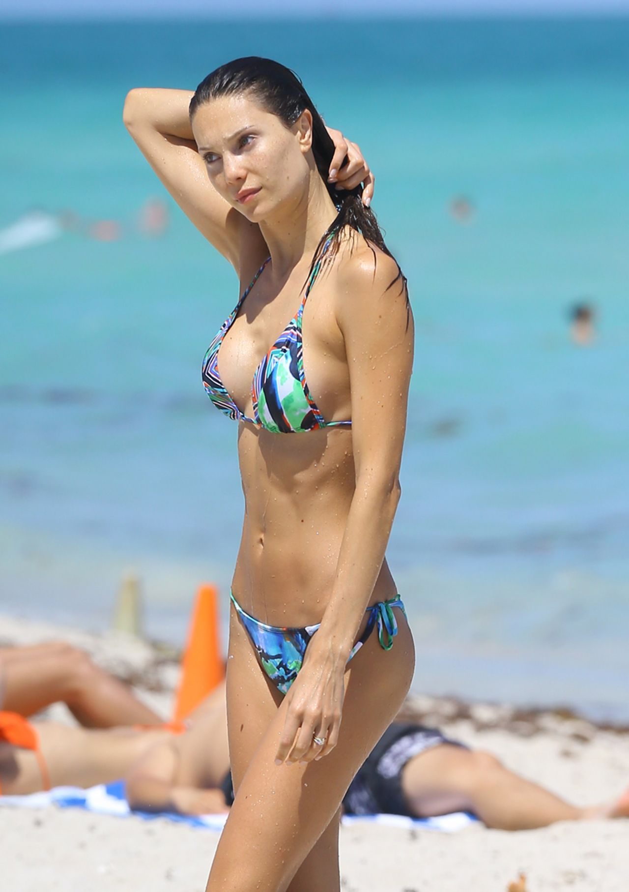 Julia Pereira Bikini Candids - Beach In Miami - April 2014-8282