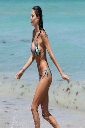 Julia Pereira Bikini Candids - Beach in Miami - April 2014
