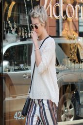 Julianne Hough - Gets Pampered at a Nail Salon in Beverly Hills - April 2014
