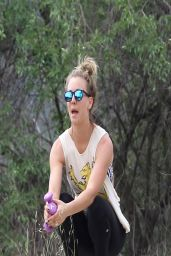 Kaley Cuoco in Tights at a Park in LA - April 2014