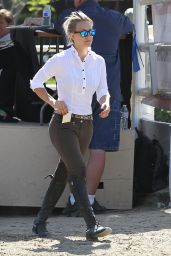 Kaley Cuoco Rides Her Horse - April 2014