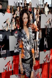 Kat Graham Wearing Roberto Cavalli Animal-Print Dress - 2014 MTV Movie Awards