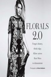 Kate Mara - Photoshoot in Floral Prints for Glamour Magazine (UK) May 2014 Issue
