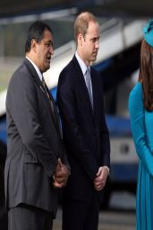 Kate Middleton in Emilia Wickstead Dress - Dunedin International Airport in New Zealand