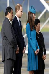 Kate Middleton in Emilia Wickstead Dress - Dunedin International Airport in New Zealand