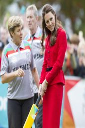 Kate Middleton - Playing Cricket in Christchurch, New Zealand - April 2014