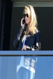 Kate Upton on a Hotel Balcony in Sydney - April 2014
