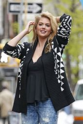 Kate Upton Photoshoot in New York City - April 2014