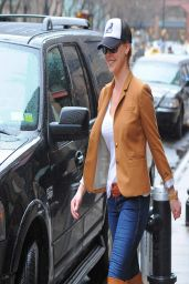 Katherine Heigl in Boots & Jeans - Out in New York City - April 2014