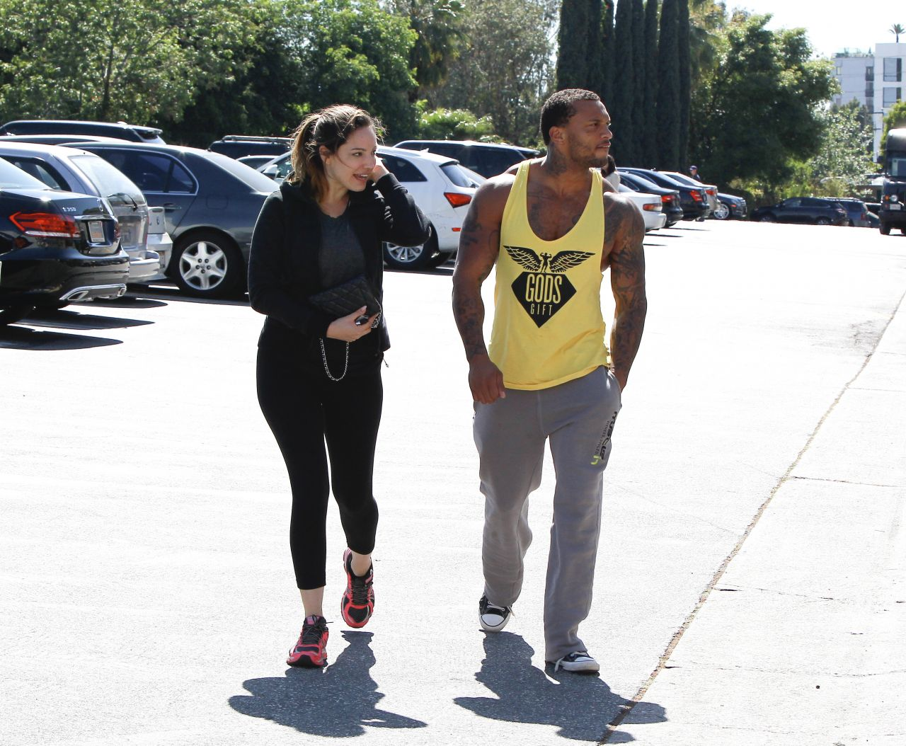 Kelly Brook in Tights - LA, March 2014