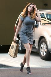 Kelly Brook Puts Her Legs on Show in Short Dress - April 2014