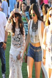 Kendall Jenner Leggy in Shorts at the Coachella Festival 2014 in Indio