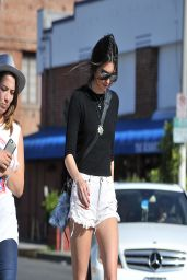 Kendall Jenner Leggy, Wearing Denim Shorts - Out in West Hollywood - April 2014