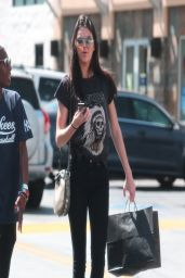 Kendall Jenner Street Style - Shopping in Studio City - April 2014