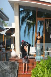 Kim Kardashian Bikini Candids - Filming Her Show in Thailand - April 2014