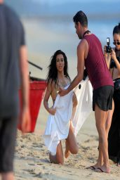Kim Kardashian Bikini Candids - Photoshoot in Thailand - March 2014