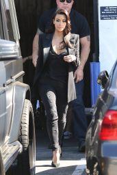 Kim Kardashian - Leaving a Studio in Los Angeles - April 2014