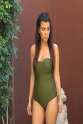 Kourtney Kardashian in a Swimsuit at a pool in Vegas - April 2014
