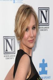 Kristen Bell in Alberta Ferretti Dress at 2nd Light Up The Blues Concert in Los Angeles