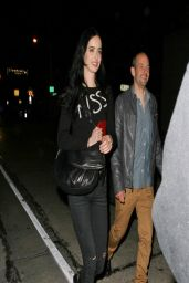 Krysten Ritter Night Out Style - Out for Dinner in Los Angeles - April 2014