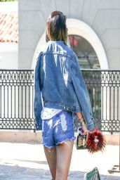 Kylie Jenner in Denim Shorts - Out in Calabasas - April 2014